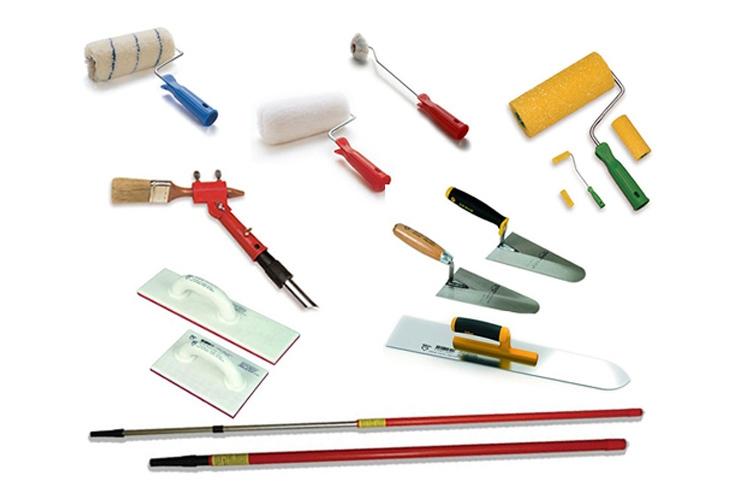 أدوات يدوية للطلاء والتجصيص